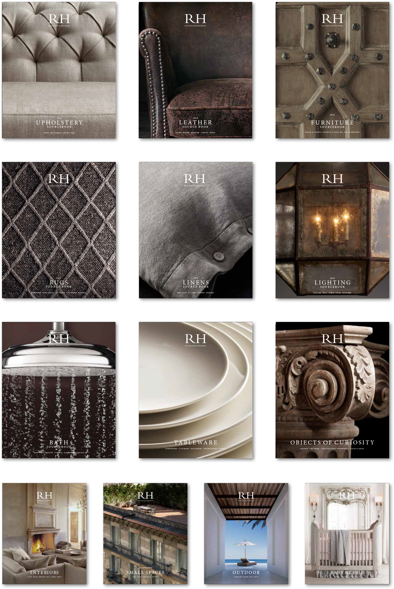 Final Selections For 13 Restoration Hardware Catalog Covers